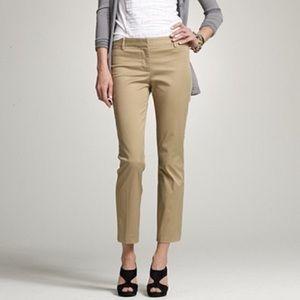 J. Crew khaki cafe trousers 6 medium ankle